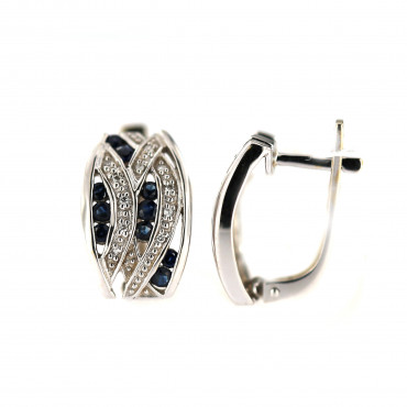 White gold sapphire earrings BBBR02-02-02