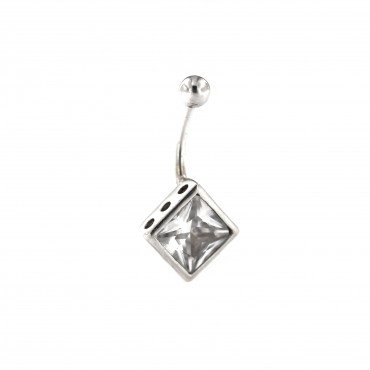White gold belly ring GB02-02