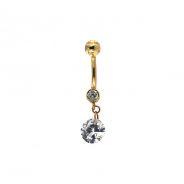 Yellow gold belly ring GG01-07