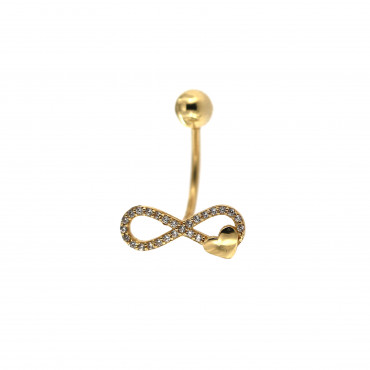 Yellow gold belly ring GG04-01
