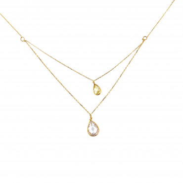 Yellow gold pendant necklace CPG11-01