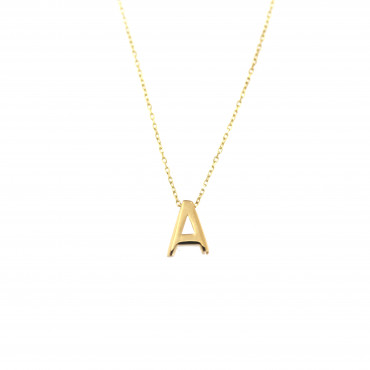 Yellow gold pendant necklace CPG12-A-02