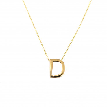 Yellow gold pendant necklace CPG12-D-02