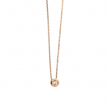 Rose gold pendant necklace CPR03-10