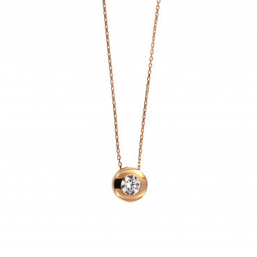 Rose gold pendant necklace CPR03-11