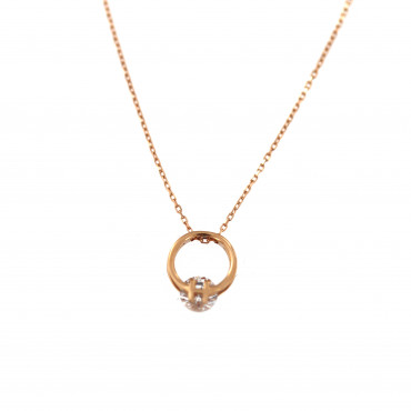 Rose gold pendant necklace CPR09-02