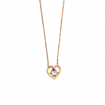 Rose gold pendant necklace CPR10-10