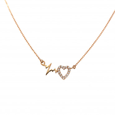 Rose gold pendant necklace CPR10-11