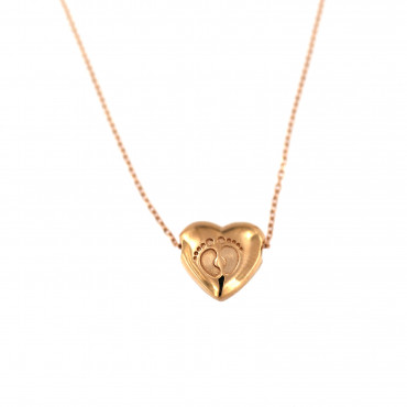 Rose gold pendant necklace CPR10-12