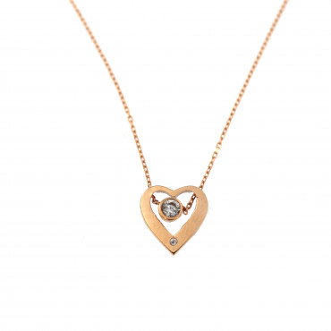 Rose gold pendant necklace CPR10-13