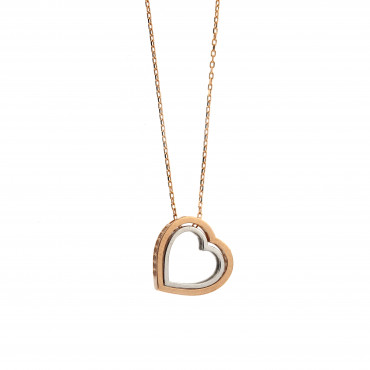 Rose gold pendant necklace CPR10-14