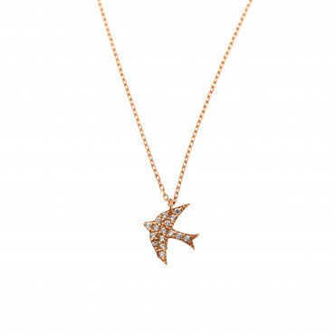 Rose gold pendant necklace CPR15-02