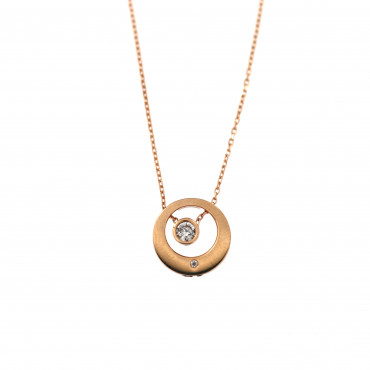 Rose gold pendant necklace CPR31-03