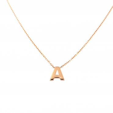 Rose gold pendant necklace CPR33-A-01