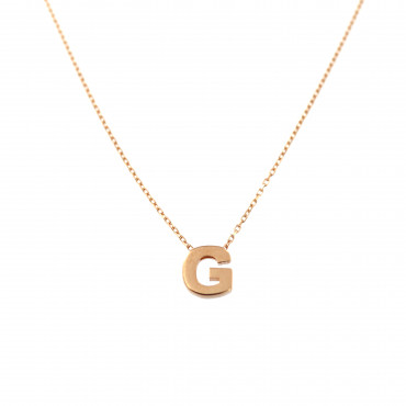 Rose gold pendant necklace CPR33-G-01