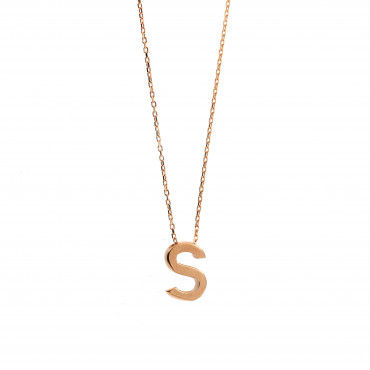 Rose gold pendant necklace CPR33-S-01