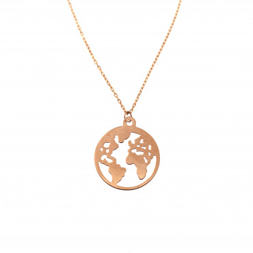 Rose gold pendant necklace CPR34-01