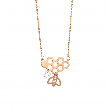 Rose gold pendant necklace CPR35-01