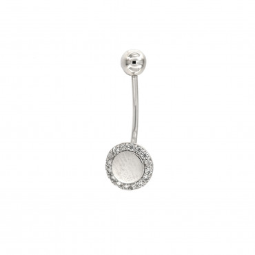 White gold belly ring GB04-01