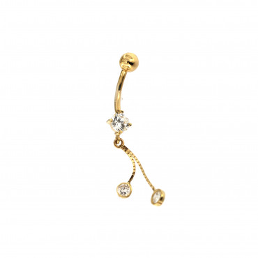 Yellow gold belly ring GG01-05