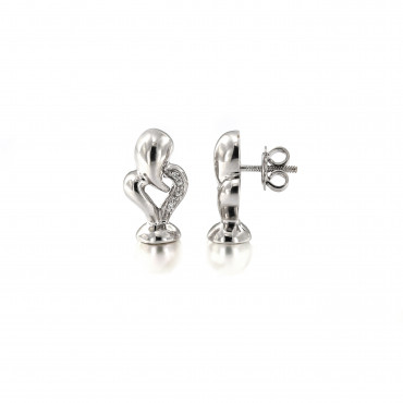 White gold pearl earrings BBBR03-01-07