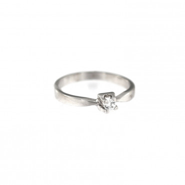 White gold engagement ring DBS01-01-23