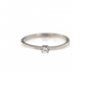 White gold engagement ring DBS01-01-26