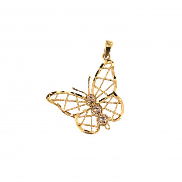 Yellow gold butterfly pendant AGD03-03