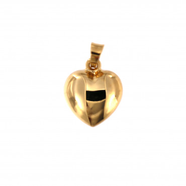 Yellow gold heart pendant AGS01-44