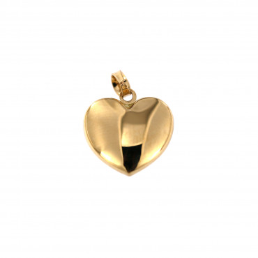 Yellow gold heart pendant AGS01-45