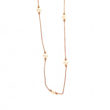 Rose gold pearl necklace CPR-B-01