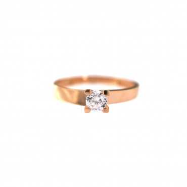 Rose gold engagement ring DRS01-01-34