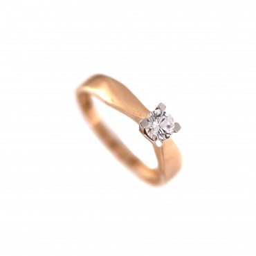 Rose gold engagement ring DRS01-01-35