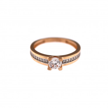Rose gold engagement ring DRS03-05-11