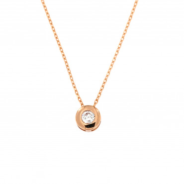 Rose gold pendant necklace CPR03-03