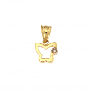 Yellow gold butterfly pendant AGD02-04