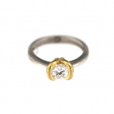White gold engagement ring DBS01-07-10