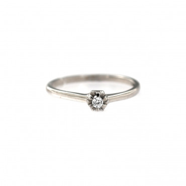 White gold engagement ring DBS01-08-06