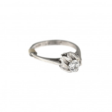 White gold engagement ring DBS01-08-03