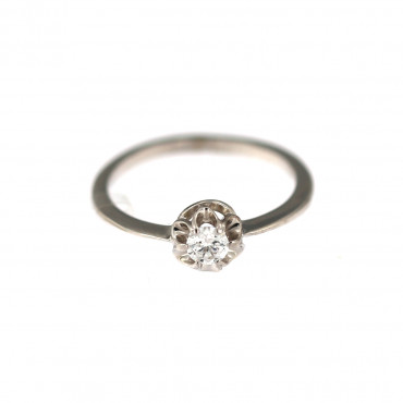 White gold engagement ring DBS01-08-07
