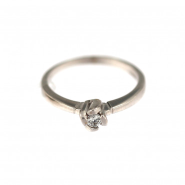 White gold engagement ring DBS01-08-08