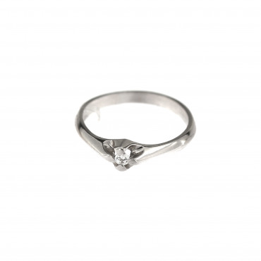White gold engagement ring DBS01-08-09
