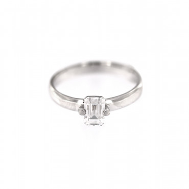 White gold engagement ring DBS01-10-02