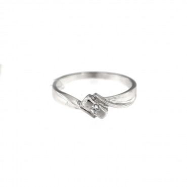 White gold engagement ring DBS01-11-03