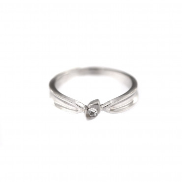 White gold engagement ring DBS01-11-04