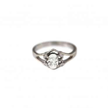White gold engagement ring DBS01-12-02