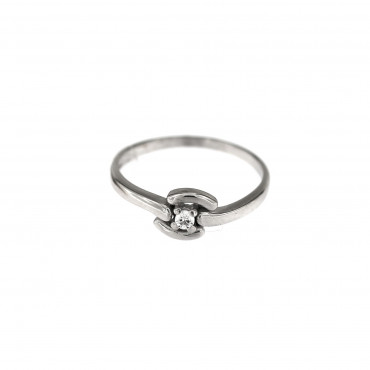 White gold engagement ring DBS01-12-05
