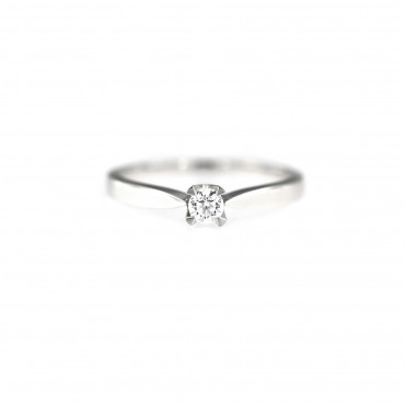 White gold engagement ring DBS01-01-08-1
