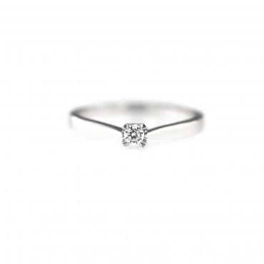 White gold engagement ring DBS01-01-07