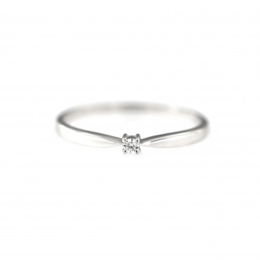 White gold engagement ring DBS01-01-04